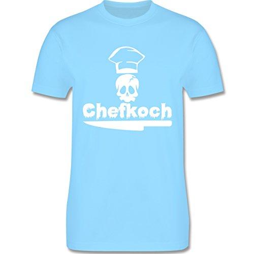 Küche - Chefkoch - Herren Premium T-Shirt Hellblau