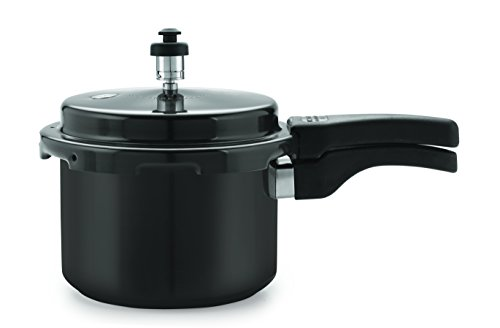 Tosaa Star Range Plus Induction Base Hard Anodised Aluminium Pressure Cooker, 3 litres, Black