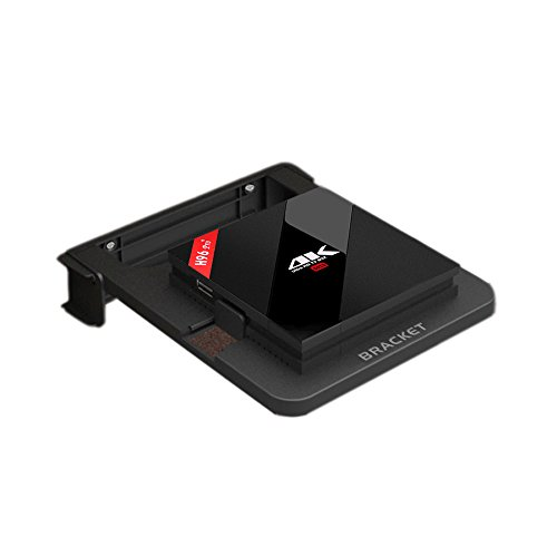 UKSoku Universal Schwarz Halterung Wandhalterung Flexible Standfüße Winkel Verstellbare Ständer mit Feder für H96 / H96 MAX / M95X / MXQ / S10 TV Box, Set Top Box,Smart TV Box (Mobile Werkzeug Box)