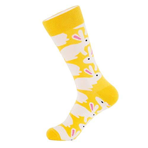 Yooshen Herren Baumwollsocken Frauen Osterei Socken Printed Süßes Muster Print Cartoon Schafe Uniform Animal Mid Tube Nette Socken (Free, B) -