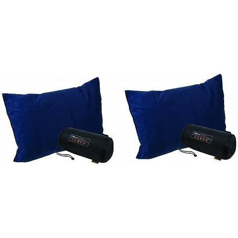Trekmates Deluxe - Juego de almohadas ligeras de viaje (2 unidades)
