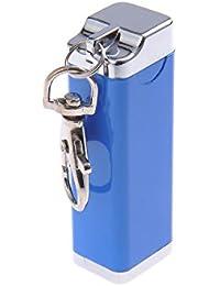 Quantum Abacus Mini-Aschenbecher/Taschenaschenbecher / Reiseaschenbecher - Zinklegierung - Karabiner, blau, 020-05 (DE)