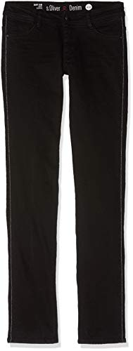 s.Oliver Damen 14.810.71.5422 Slim Jeans, Schwarz (Black Denim Stretch 99Z4), W38/L30