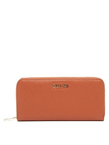 GUESS, Damen Geldbörsen, Börsen, Portemonnaies, Brieftaschen, Cognac, 20,5 x 10 x 3,5 cm (B x H x T) (Brieftasche Braun Guess)