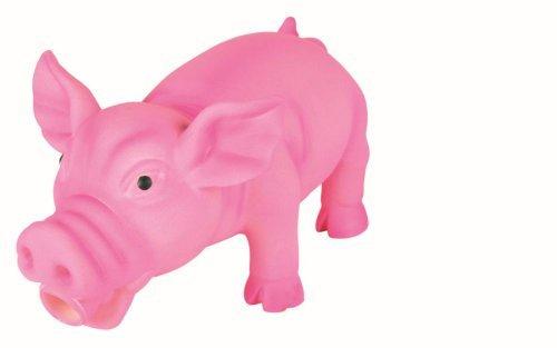Trixie 35490 Schwein, Original-Tierstimme, Latex, 17 cm