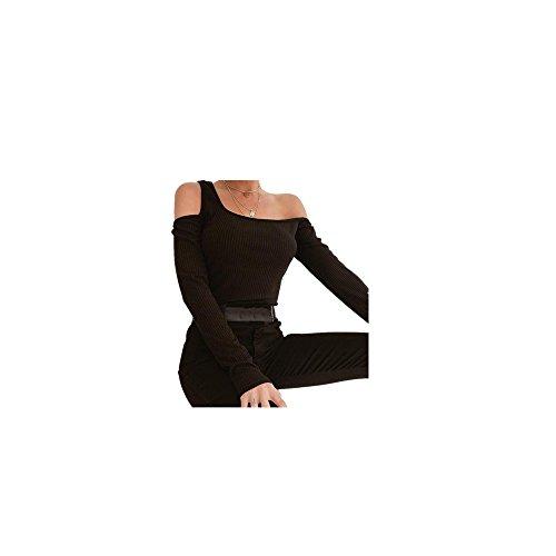 Riou Damenbekleidung,Damen Langearmshirt High Neck Shirt Tops Elegant Bequem Lösen Schöne Oberteile beiläufigen Pullover Sweatshirt Blusen Herbst Neuer Stil ❤️Verkauf ❤️ (M, Schwarz)