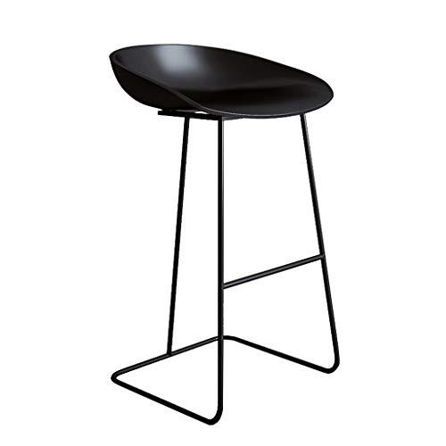 Barhocker Frühstück Küche Theke Bar Stuhl Fußstütze mit schwarz gebogenen Sitz Esszimmerstuhl for Küche |Pub |Café Hochhocker Metallbein max.Laden Sie 200 kg