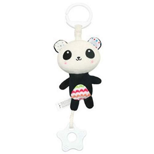 - hou zhi liang Kinderwagen Sound Spielzeug Cartoon Tier Form Hängen Glocke Mit Haken Kinder Ergreifen Entwicklung Plüschtiere Set Musical Krippe Mobiles (Panda)