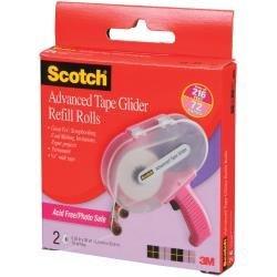 Scotch Advanced Tape Glider Acid-Free Refills 2/Pkg by 3M