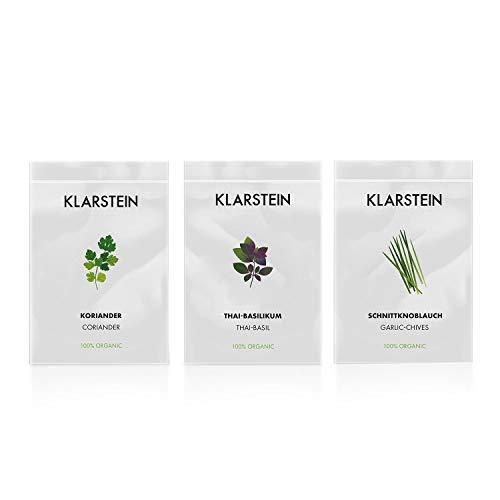 Klarstein GrowIt Seeds Asia - 3 sachets de graines, Coriandre, Basilic thai, Ciboulet