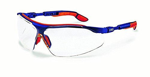 UVEX Komfort-Schutzbrille i-vo blau-orange ungetönt -