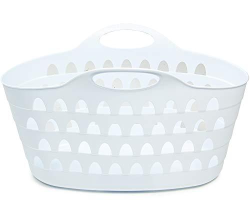 Ondis24 Wäschekorb Flexi Tub, Wäschesammler 60 L, Aufbewahrungskorb Bad, Belüftungslöcher, Flexibler Kunststoff, Kleider (1 Stück)