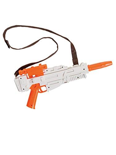 (Star Wars Finn Blaster Lizenzartikel Waffe weiss orange 37x16,5x5,5cm)