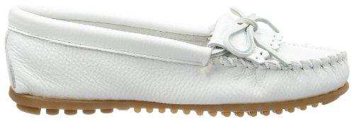 Minnetonka Women's Deerskin Soft-T Moccasin,White Deerskin,5.5 M US White Deerskin