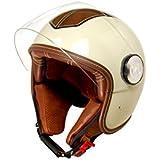 kumpan electric KU-HH-R1-BL-S Retro-Jet-Helm, Deep Schwarz, Größe : S
