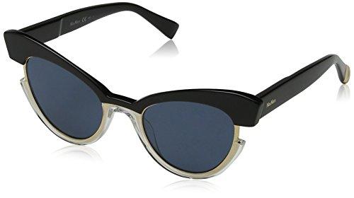 Max mara mm ingrid ku 7c5 49, occhiali da sole donna, nero (black crystl/bl blue)