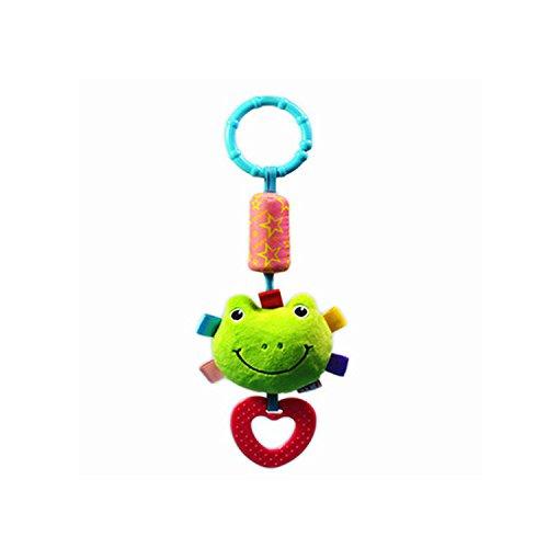 Romote 1 stücke Neugeborenen Baby Wind-up Spieluhr Hängen Rasseln Bett Kinderwagen Krippe Handbells (Frosch)