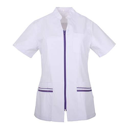 MISEMIYA - Arbeitskleidung Frau Kurze ÄRMEL UNIFORM KLINIK Krankenhaus Reinigung TIERARZT Gesundheit GASTGEWERBE - Ref.702 - Large, Flieder