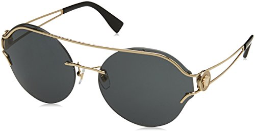 Versace Damen 0VE2184 125287 61 Sonnenbrille, Pale Gold/Grey