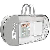 Kally Sleep - Cuco Nido para Bebé - Moisés/MiniCuna - 0-8 Meses - 80 x 45 cm - Gris (Incluye Manta)