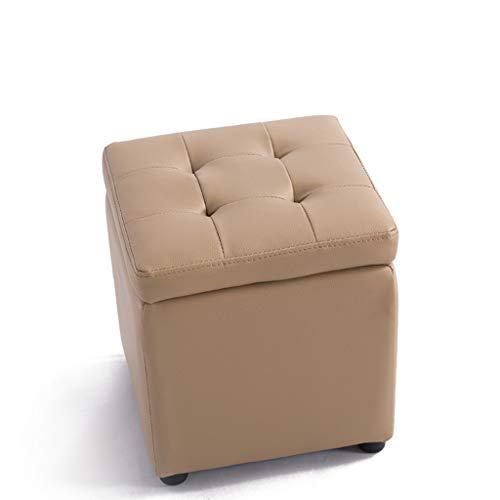 YAOLANMM Cube Osmanischen Hocker Aufbewahrungsbox Lounge Sitz Hocker mit Scharnier Oben Startseite Wohnzimmer Schlafzimmer Möbel Fußstütze Hocker Lagerung Ottoman (Farbe : Beige, größe : 40x40x40cm) - Fach Osmanischen
