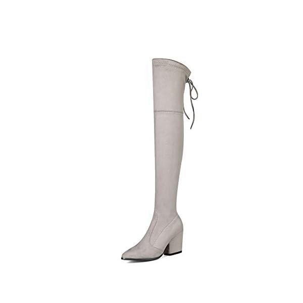 Aimint Womens Bucket-Style Casual Warm Lining Gray Urethane Boots EZR00544-2.5 UK 31gx6MNE uL