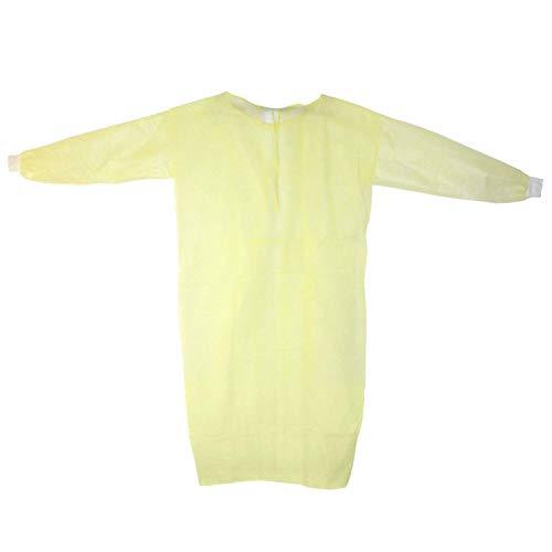 Medi-Inn MRSA PP / PE Lot de 10 blouses de protection isolantes Jaune 139 x 139 cm