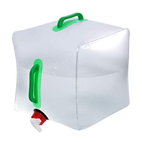 Shanyaid Wasserbeutel 20L Faltbare Wasserbehälter Praktische Outdoor Faltbare Wasserträger Tank Wassertasche Wasserträger for Camping Reiten Bergsteiger -