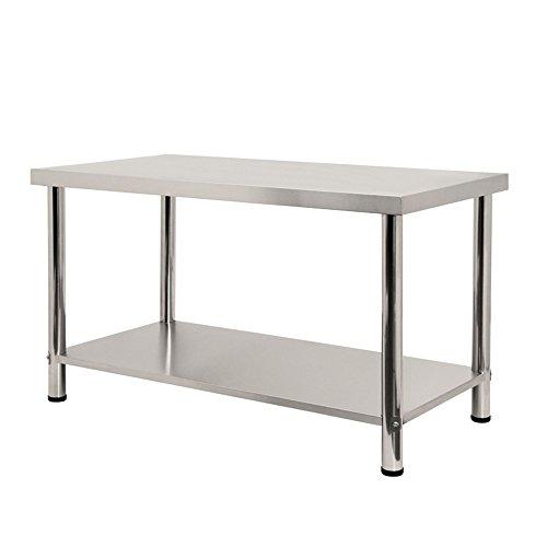 LARS360® Mesa de trabajo de acero inoxidable con/sin remates, para gastronomía, preparación...