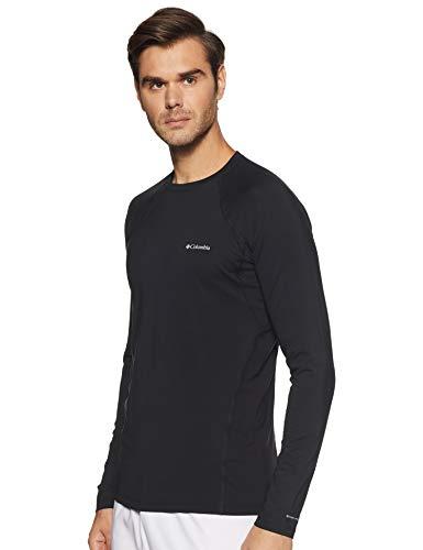 Columbia Baselayer für Herren, Midweight Stretch Long Sleeve Top, Polyester, schwarz, Gr. XL, 1638591 Amerika Polyester-fleece