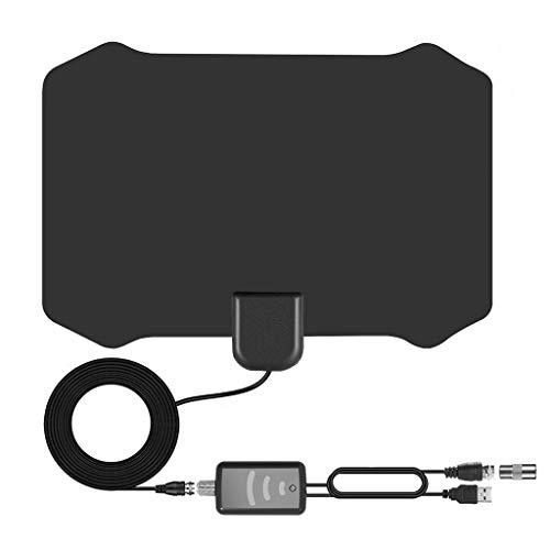 Yue668 Digital-TV-Antenne 200-Meilen-Entfernungsverstärker 1080P HDTV Indoor Signal Booster (Schwarz) Uhf-signal-booster