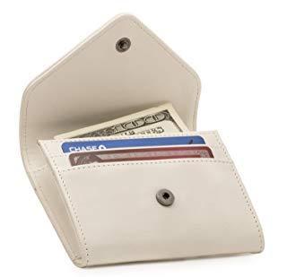 Otto Angelino Portafoglio in Ecopelle con Porta Monete e Porta Carte di Credito o Tessere - Blocco Anti RFID - Unisex (Bianca)