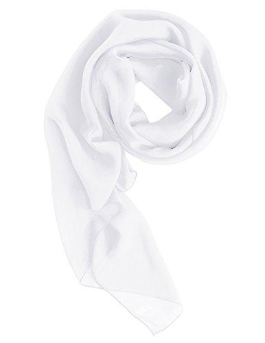 Dresstells Chiffon Schal Stola für Abendkleider in verschiedenen Farben White 180cmX72cm