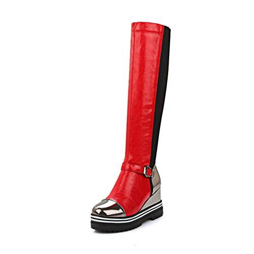 Stiefel Mode Keil Hohe Plattform Outdoor Schuhe Kniehohe Herbst Winter Reiten Reiterstiefel Für Mädchen ()
