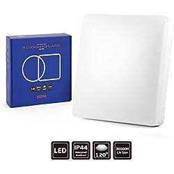 Seediq techo LED 15W, Techo IP44cuarto de baño redondo, Luminaire techo 5000K, 5000K Blanc Froid