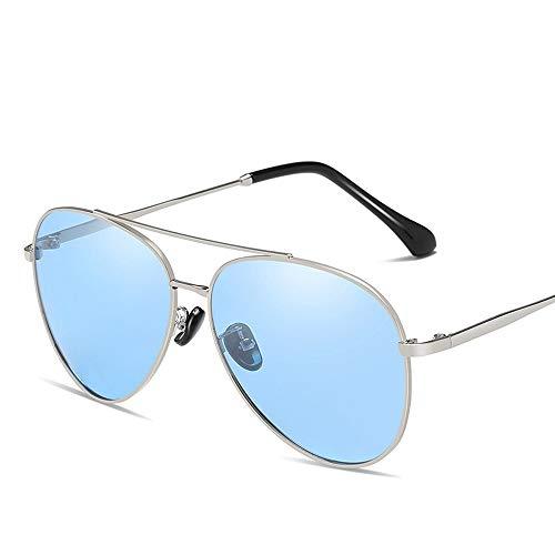 Mode UV-Schutz polarisierte Metall HD Sonnenbrille Sonnenbrille Männer Frauen Brille (Color : Blau, Size : Kostenlos)