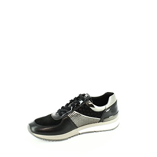Michael Kors Sneakers Allie Trainer Black Gun Nero-acciao