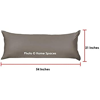 """Home Spaces Soft Microfiber Body Pillow Cover 21""""x 54"""" with Zipper Closure (Set of 1) (Brown)"""