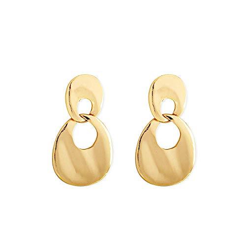 Cyjershi Ohrring,Einfacher Goldgesichts-Persönlichkeitshohlschmuck, Geschenk (Neuheit Perlen Großhandel)
