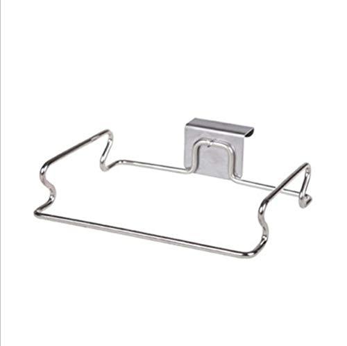 Depory Soporte para bolsa de basura fácil de colgar Colgador de bolsas de acero Sujeta bolsas ideal...