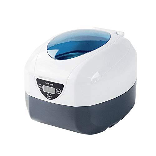 Hensdb Tragbare Ultraschallreinigungsmittel, Schmuck Waschmaschine, Waschkorb 750MI 35W Ultraschallbad Für Ringe, Razors, Ketten, Uhren, Brillen, Zahnersatz