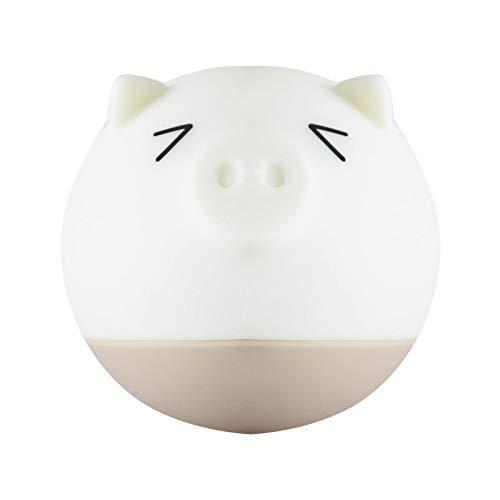 Led-nachtlicht Nachtlicht Kinder Baby Geschenk Piggy Nachtlicht Tragbare Nachttischlampe Augenpflege Pat Silikonbrust Bunte Lichter Schielen