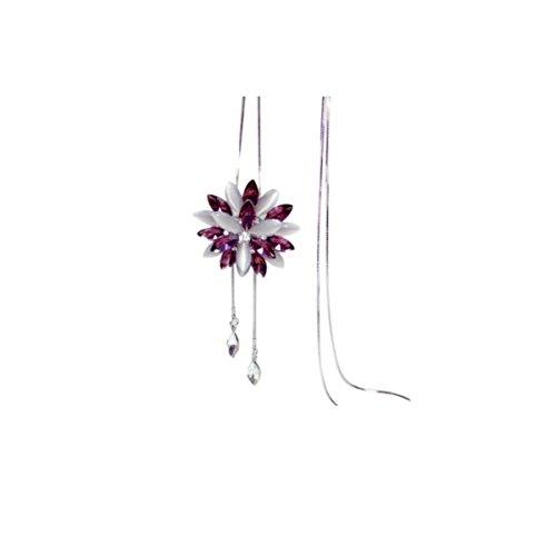 NIUWJ Damenmode Wilden Langen Abschnitt Pullover Kette Künstliche Perle Blume Typ Künstliche Kristall Schokolade Zubehör (Perle Anhänger Schokolade)