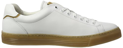 camel active Herren Bowl 19 Low-Top Weiß (white/cord 02)