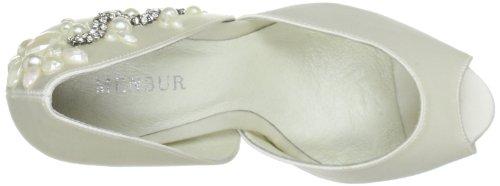 Menbur Wedding Vara 5339, Scarpe da sposa col tacco Avorio (Elfenbein (Ivory 04))
