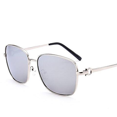 LXKMTYJ Sunglasses Men Chaoren Polarized Sunglasses Driving Mirror Driver Mirror Gradient Stylish Glasses, Mercury Chip