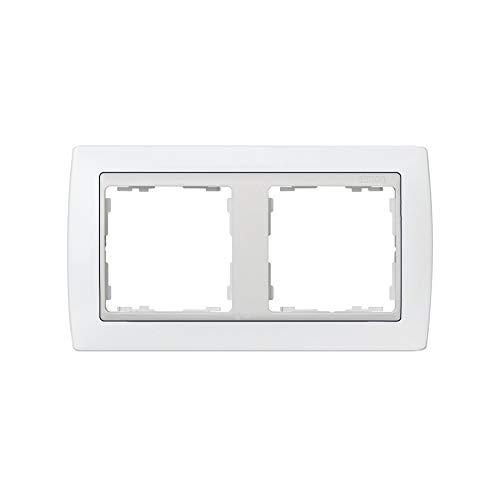 Simon - 82620-30 marco 2 elemento s-82 monocolor blanco nieve Ref. 6558230160
