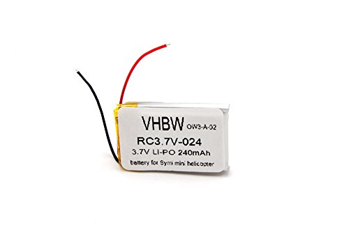 vhbw Li-Ion Battery 240mAh (3.7V) for Syma Helicopter S107G, S108G