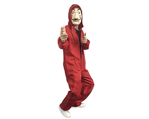 fpengfashion Halloween Dali Clowns Cos Unisex Lustige Kostüme Onesies - Cosplay Kostüm Mit Roten Haaren