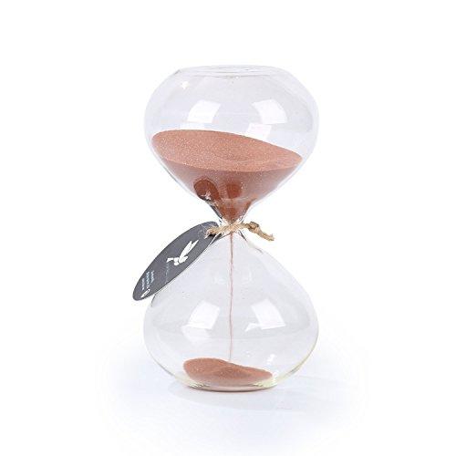 Biloba Puff Sanduhr, glas, Cocoa, 6 Inch , 60 Minutes(+/-360 Second) (Ornament Gold-glas)